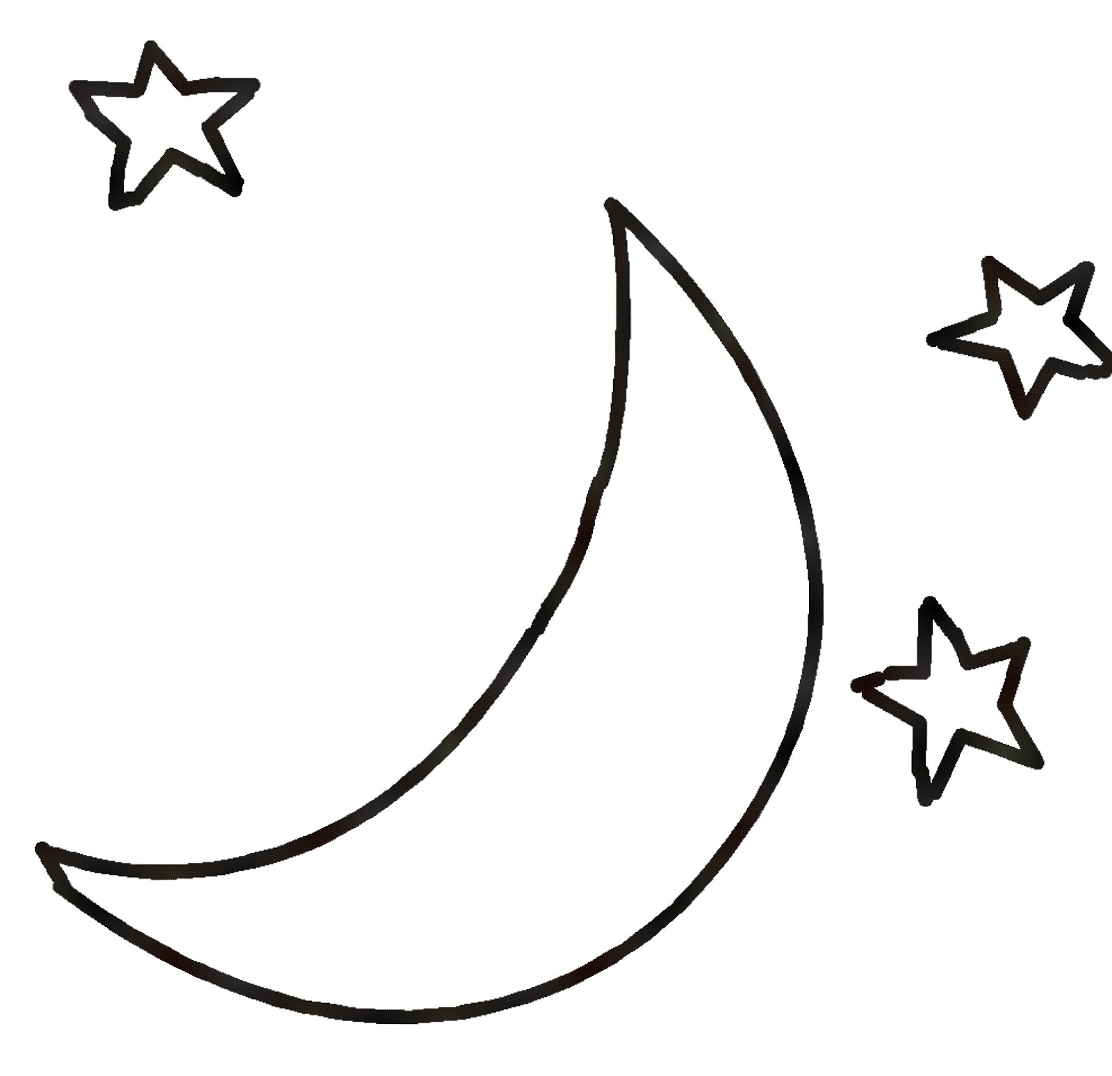 Star  black and white black and white moon clipart clipartxtras