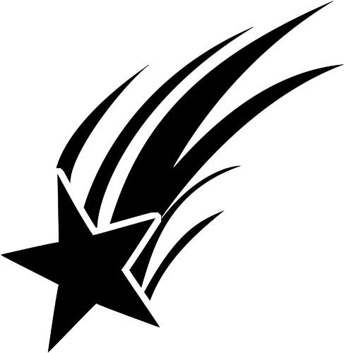 Star  black and white black star clipart