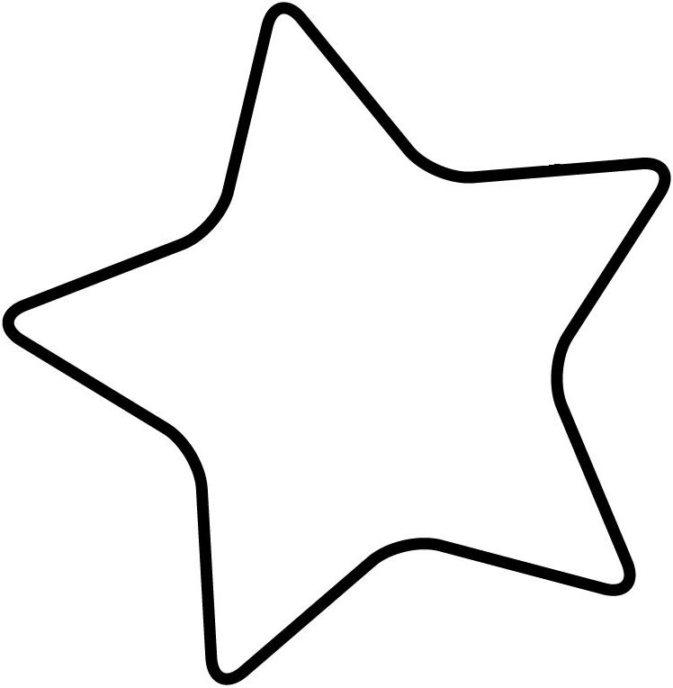 Star  black and white clipart template