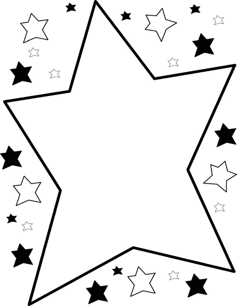 Star  black and white star black and white star clipart 3 clipart