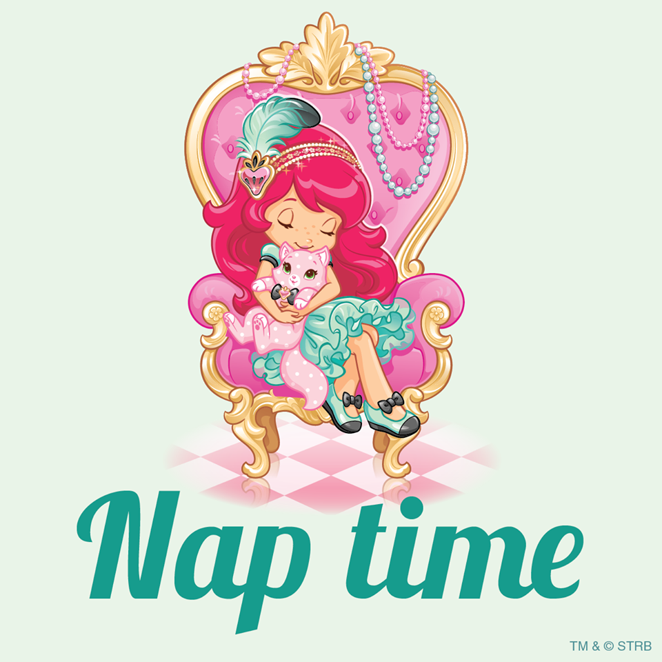 Strawberry and custard'nap time shortcake clipart