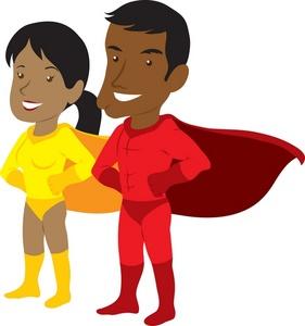 Superhero clip art free clipart images