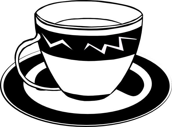 Tea cup clipart cartoon pencil and in color tea cup