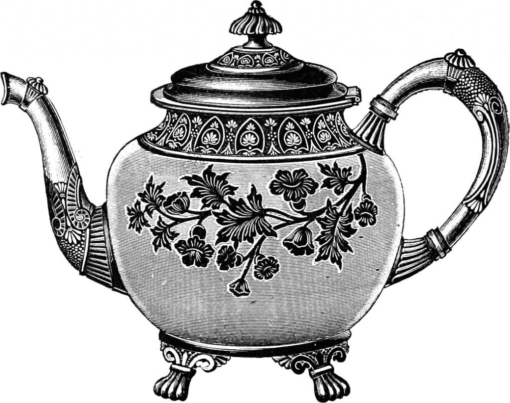 Tea cup free clip art images vintage teapot
