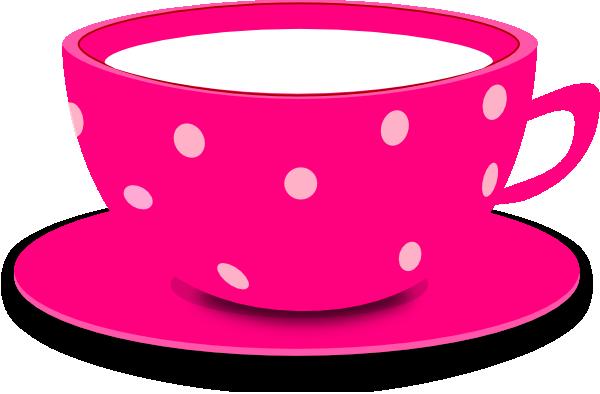 Tea cup pink clip art at vector clip art
