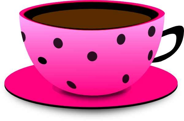 Tea cup pink clipart
