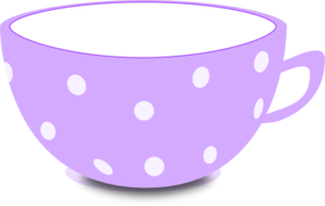 Tea cup purple and white clip art at vector clip art