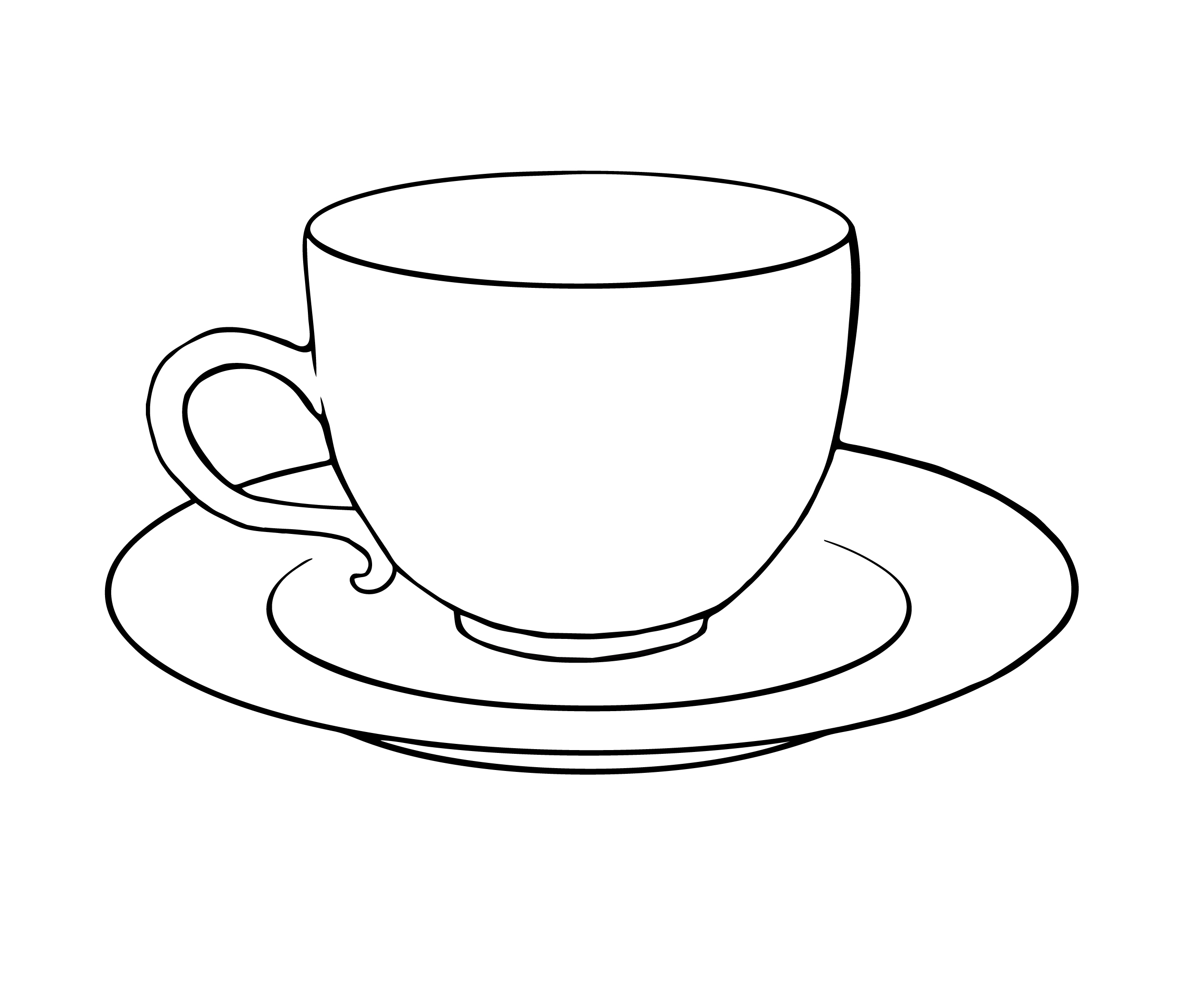 Tea cup saucer clipart free download clip art on