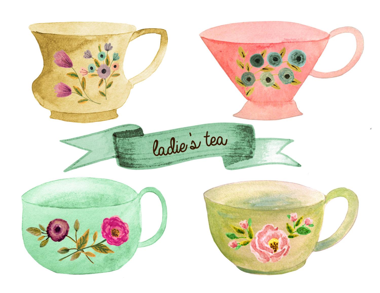 Tea cup tea clipart tea party cup pot