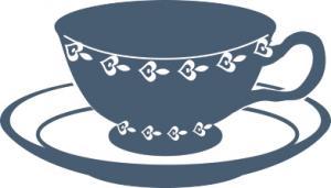 Tea cup tea party clip art
