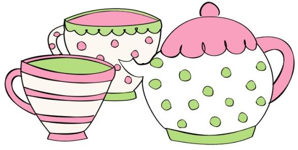 Tea cup teapot clip art parties tea party