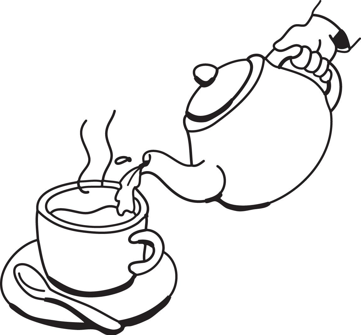 Tea cup teapot fancy teacup clip art free clipart images 2 clipartandscrap