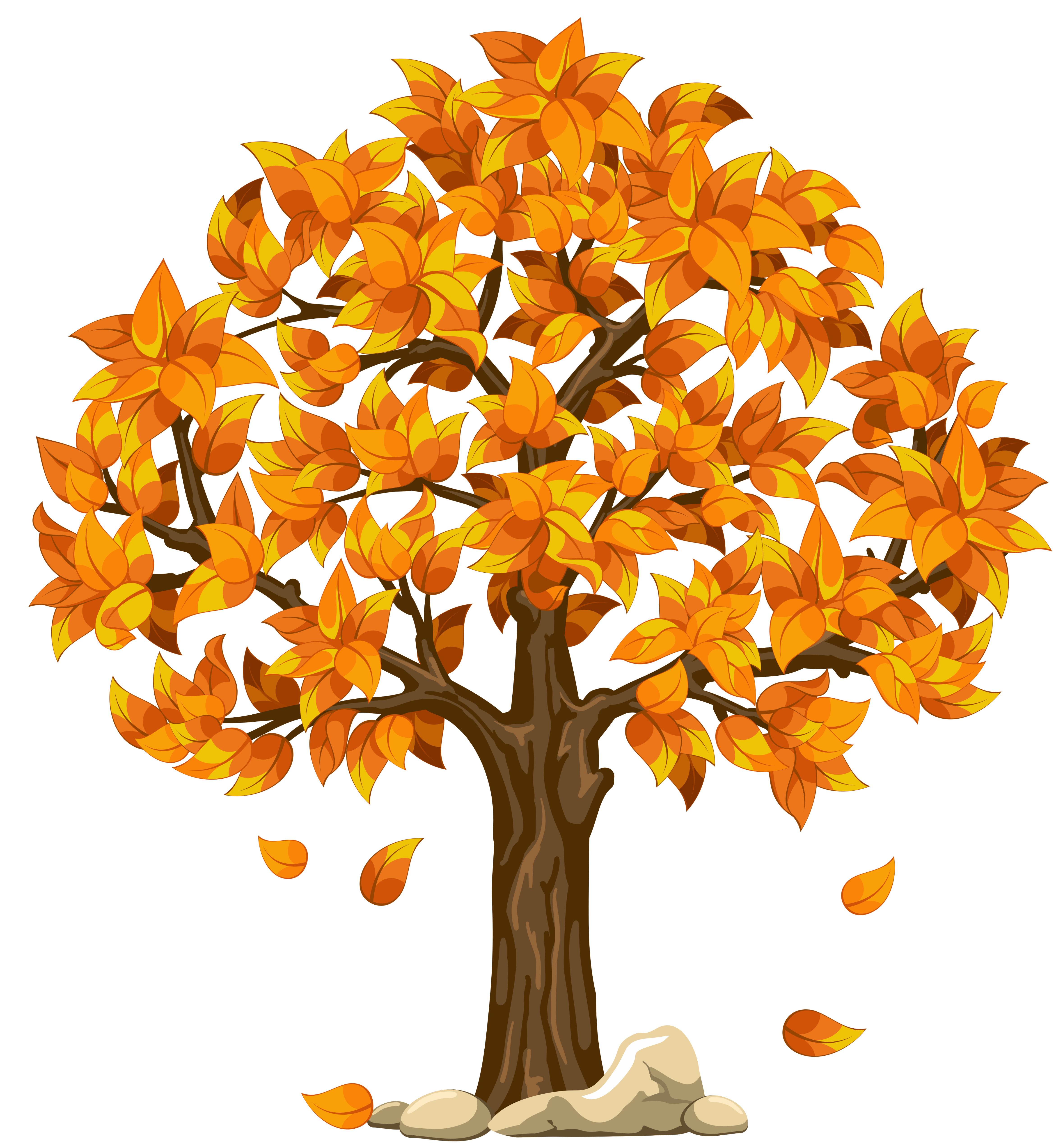 Top autumn tree clip art free clipart image