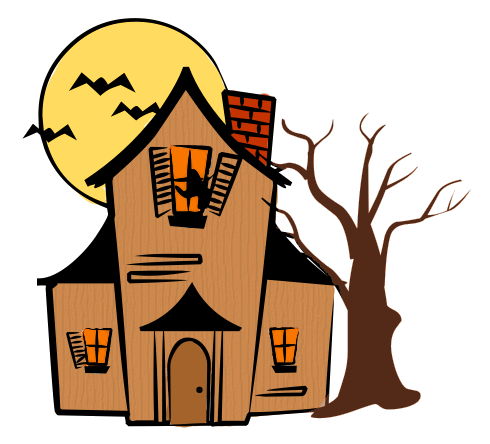 Top haunted house clip art free clipart image