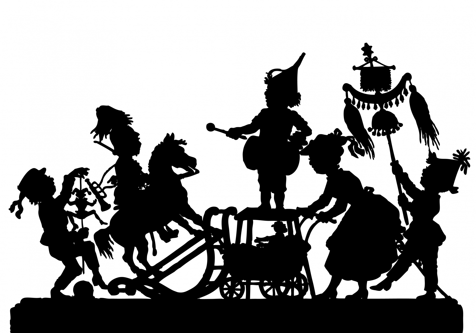 Victorian parade silhouette clipart free