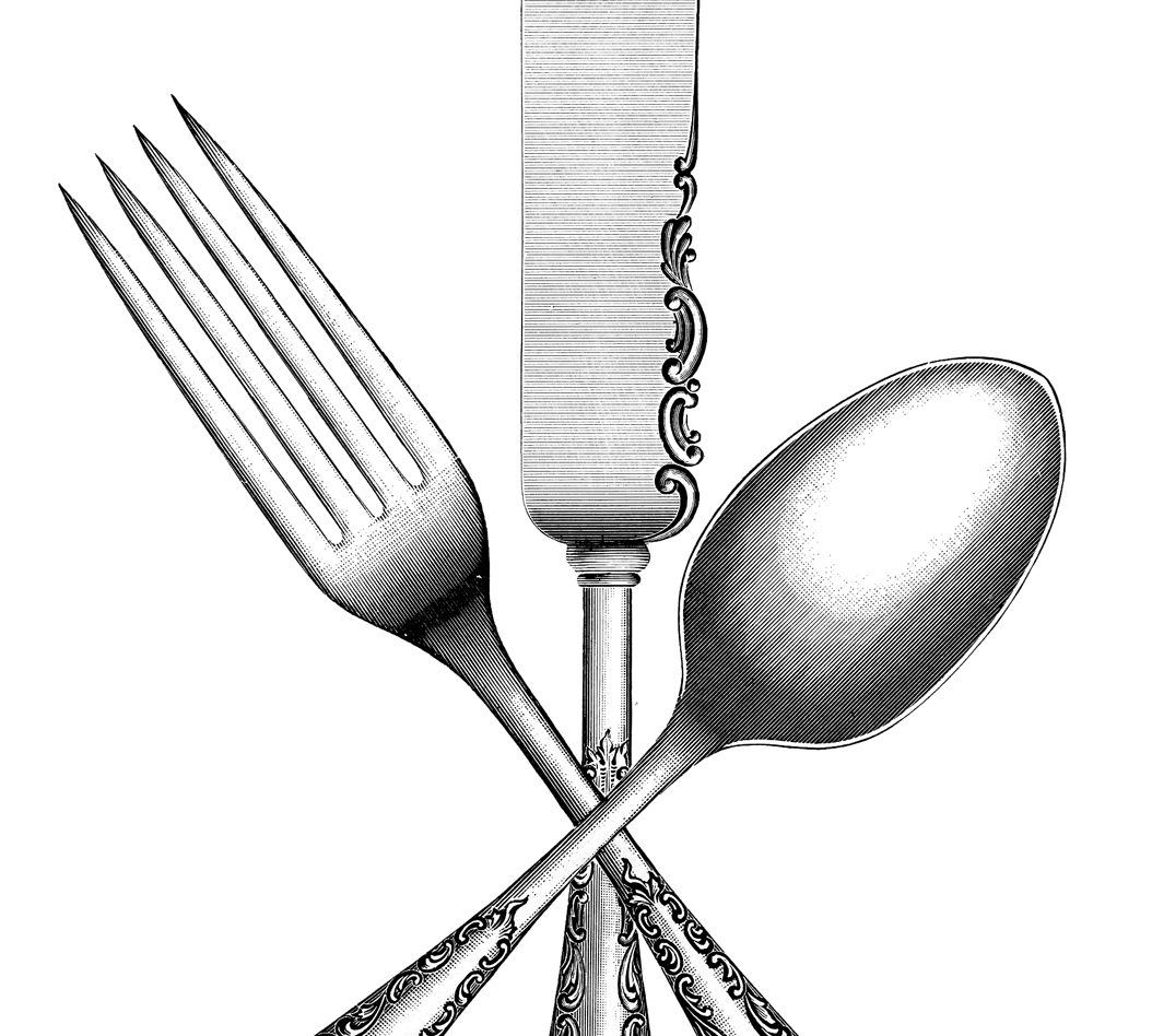 Vintage silverware image the graphics fairy clipart
