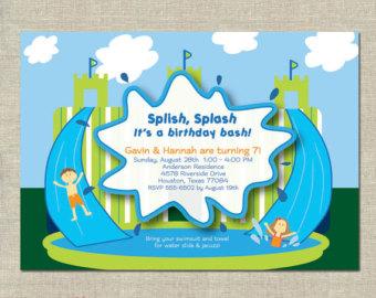 Water slide clip art 6