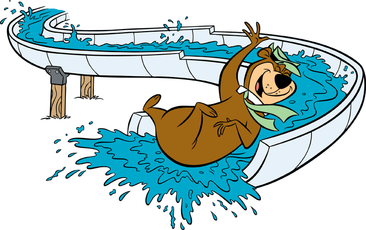 Water slide lone star jellystone family fun for everyone clipart