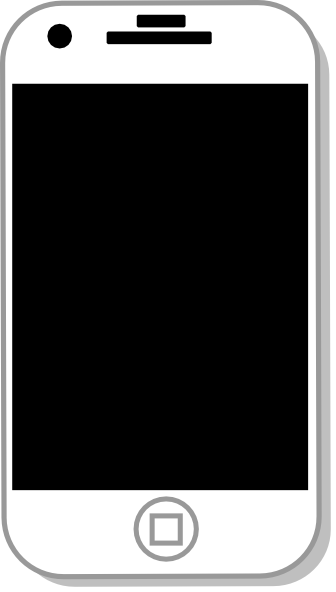 White iphone clip art at vector clip art