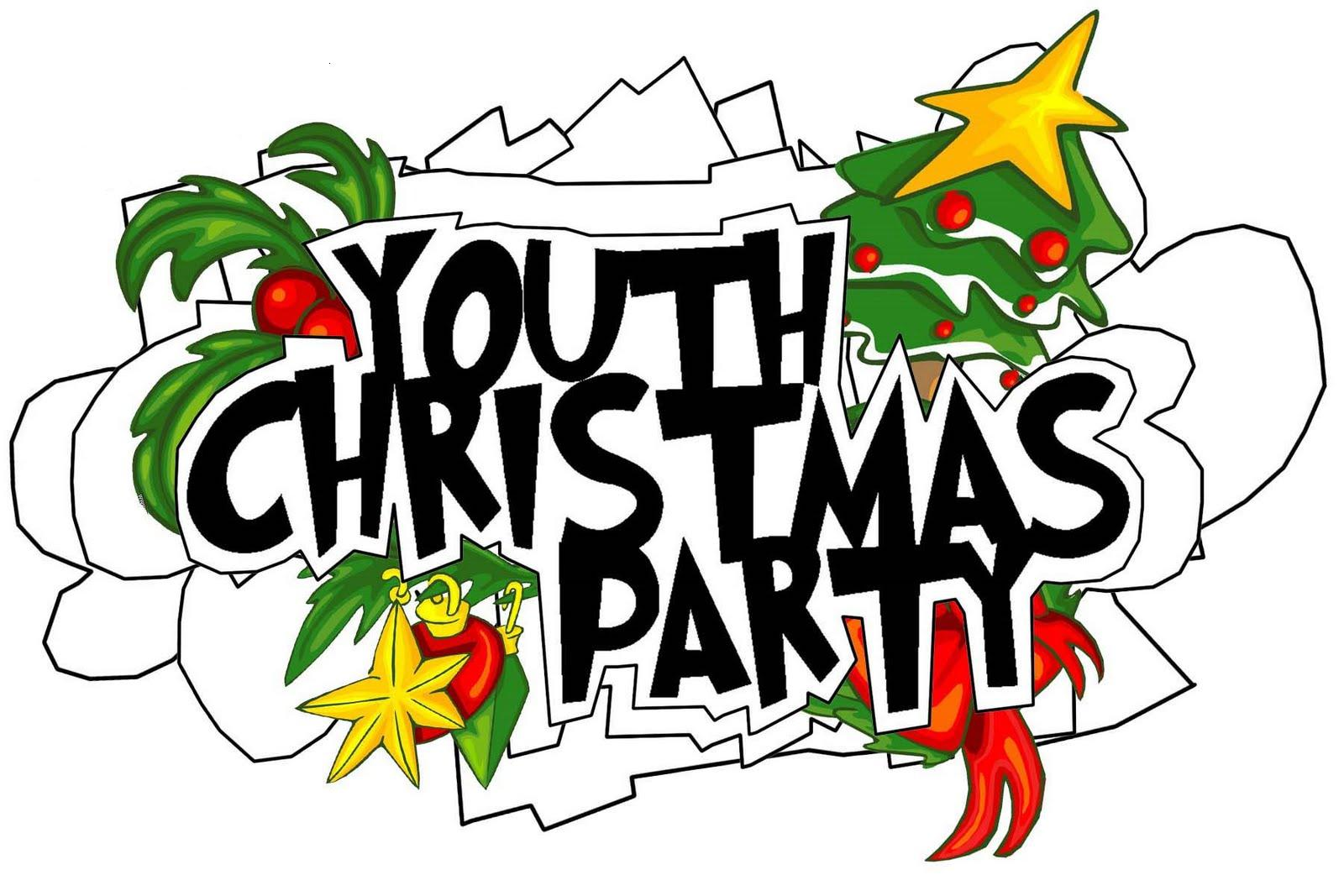 Youth christmas party clipart