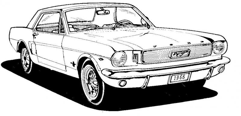 6 ford mustang clip art