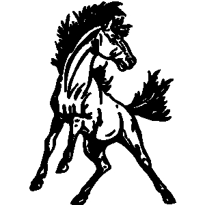 All black mustang clipart free clipart images