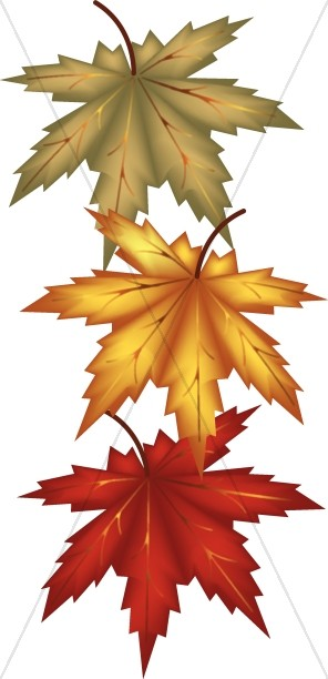 Autumn leaves religious clipart harvest day