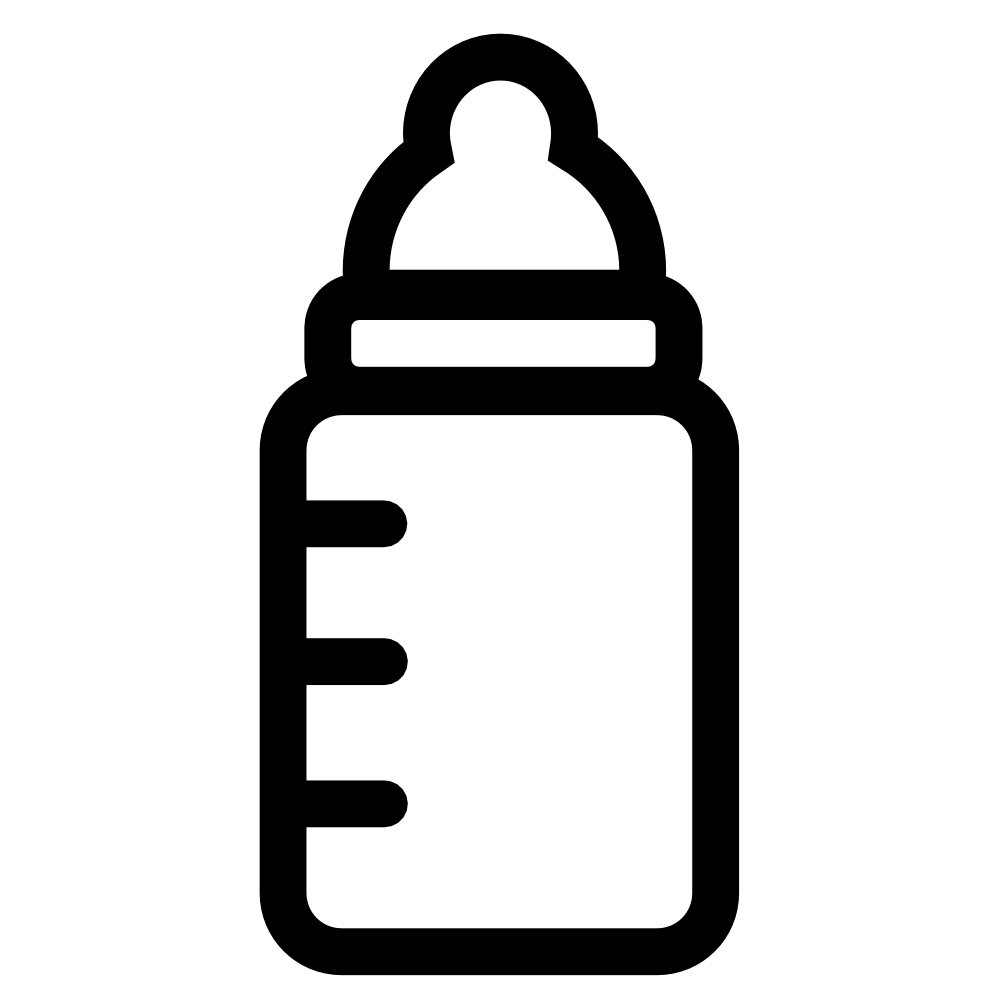 Baby rattle baby bottle clipart black and white free clipart
