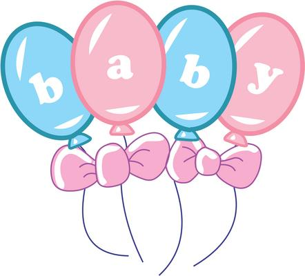Baby rattle baby clipart girl cute pink baby carriage free clip art