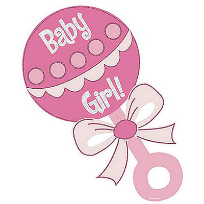 Baby rattle baby girl rattle clipart