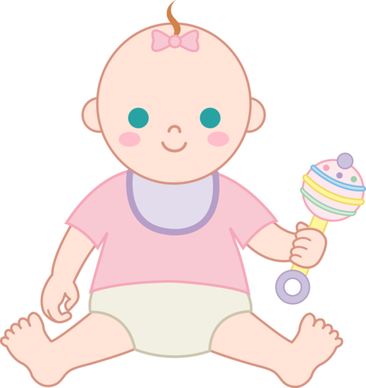 Baby rattle baby girl with rattle free clip art