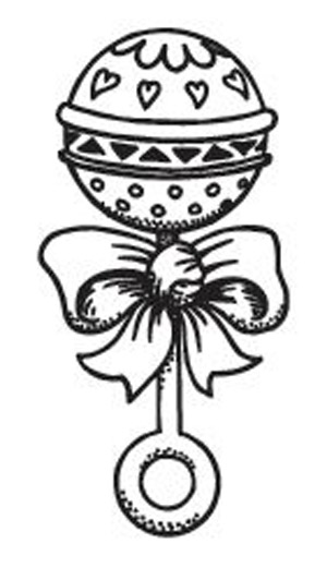 Baby rattle black and white clipart 2 clipart