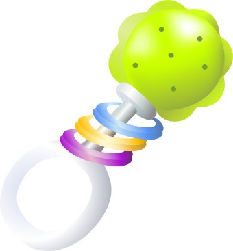 Baby rattle clip art free clipart images