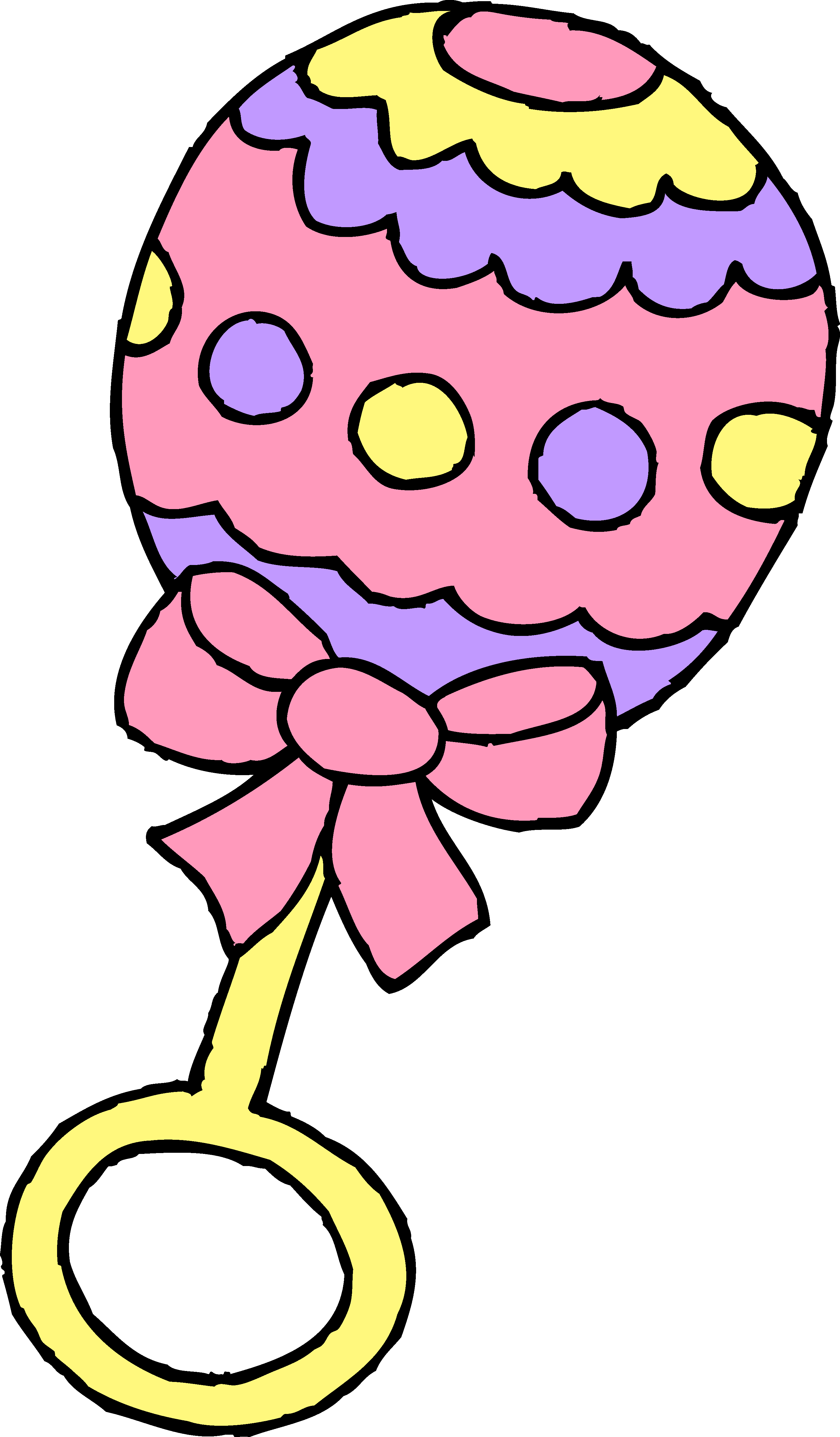 Baby rattle pink baby girl rattle free clip art