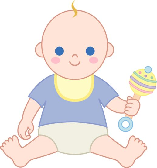 Baby rattle vintage baby illustrations clipart boy with