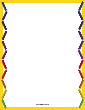 Bright coloring pencil border