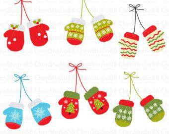 Christmas clipart mitten