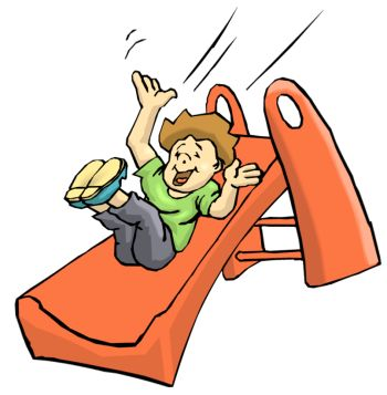 Clipart of boy on slide collection download
