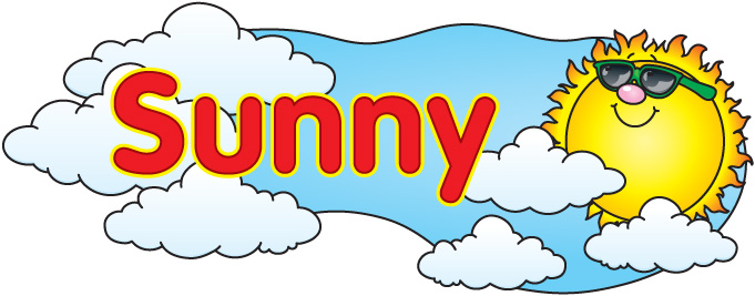Clipart sunny weather 2 clipart