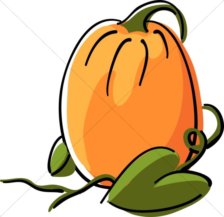 Cute harvest pumpkin day clipart