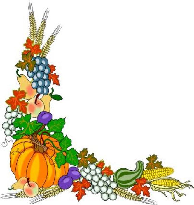 Fall harvest corner border free clipart images