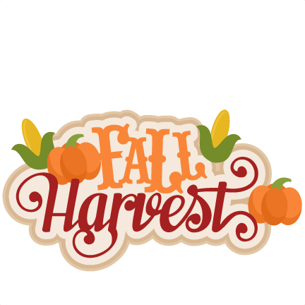Fall harvest svg scrapbook title cutting files for clip art