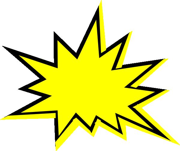 Flash starburst clip art outline free clipart images 2 image