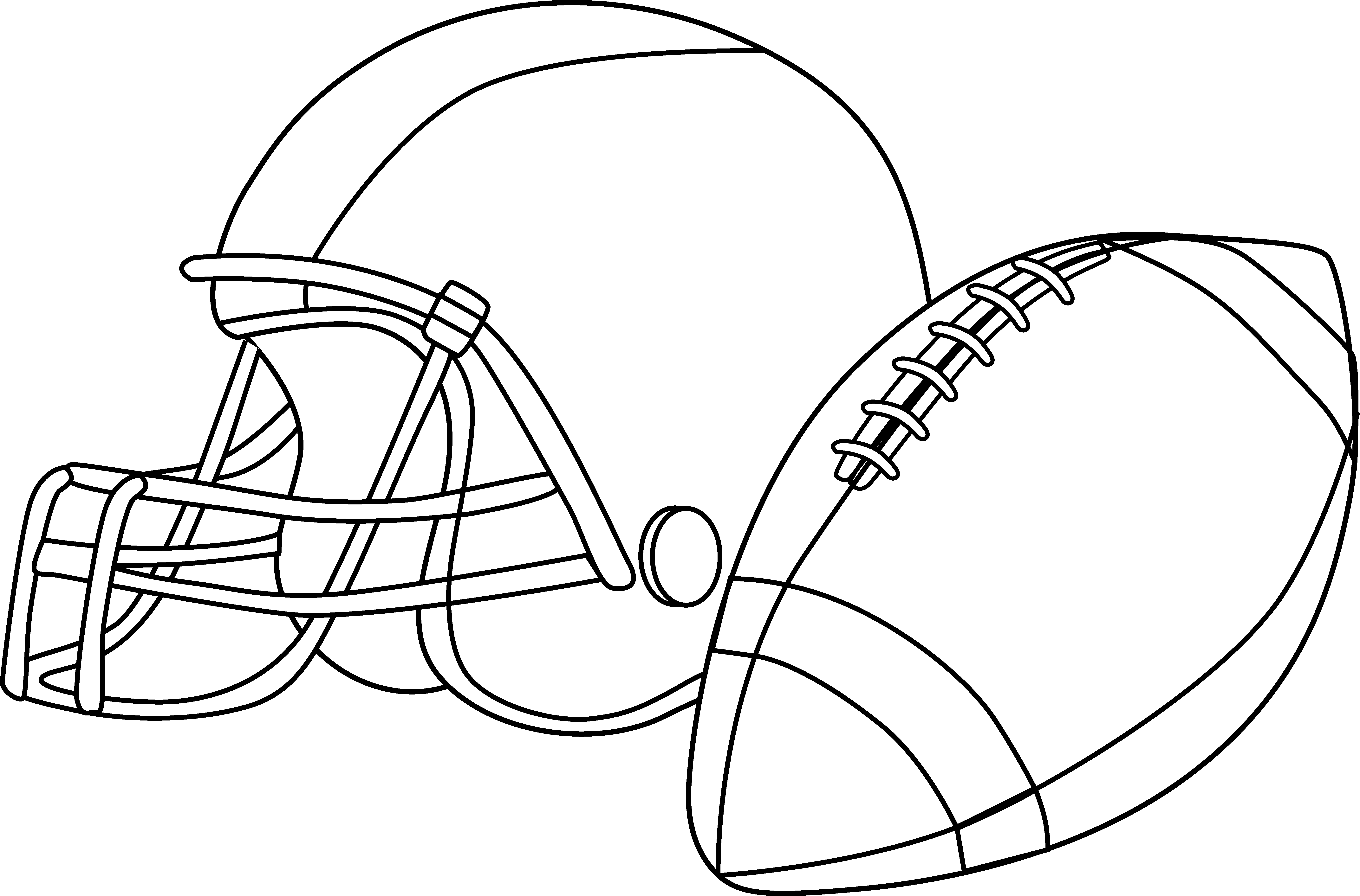 American football cartoon black and white