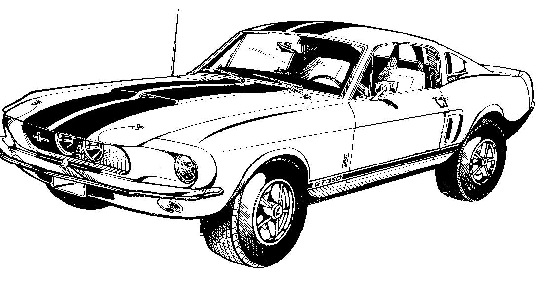 Ford mustang clip art