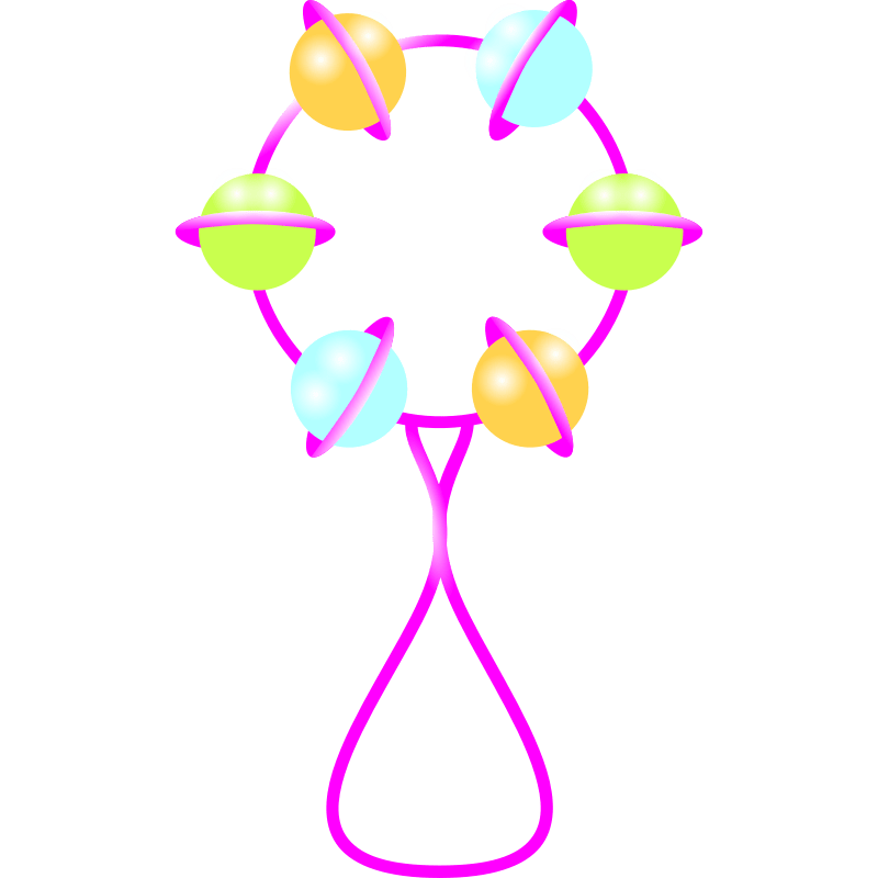 Free baby rattle clipart the cliparts 3