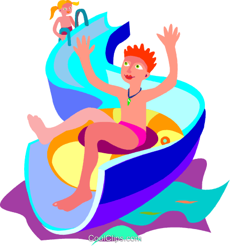 Fun water slide clip art clipart free download clipart