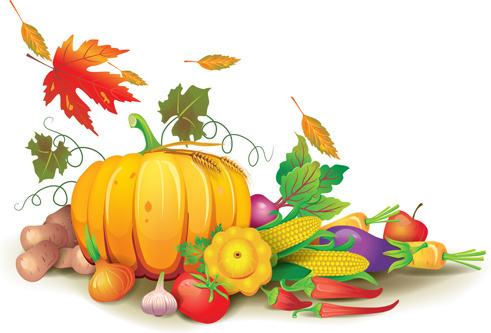 Harvest clipart background pencil and in color harvest