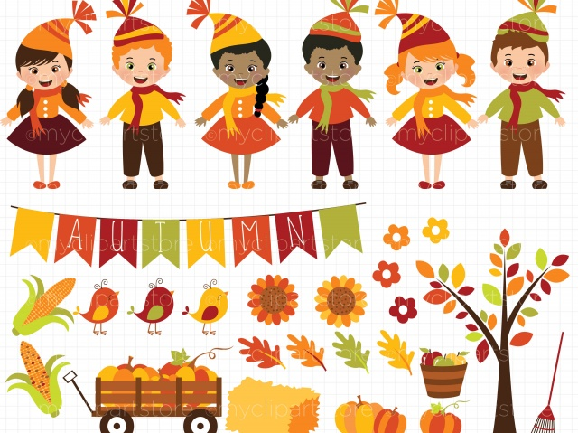 Harvest clipart happy harvest pencil and in color