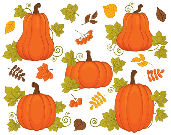 Harvest pumpkins clipart vector pumpkin fall